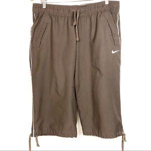 Nike Brown Drawstring Capris
